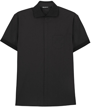 Neil Barrett Black stretch cotton blend shirt: €270.