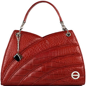 Farbod Barsum Empress n Ruby Red? American Alligator Handbag.
