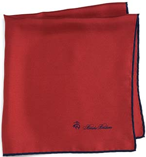Brooks Brothers Men's Silk Pocket Square: US$45.
