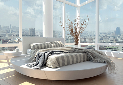 UltraKing Round Bed.