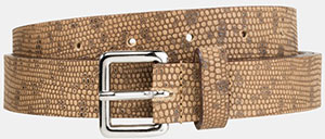 The Kooples Belt in Python Style Leather: £51.