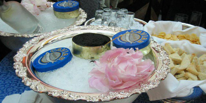Beluga caviar - the most expensive type of caviar, with present market prices ranging from US$7,000 to US$10,000 per 1 kg.