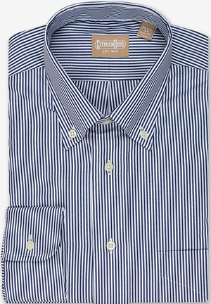 Gitman Bros. Button Down Bengal Stripe Navy: US$165.