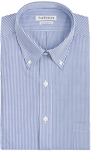 Van Heusen Regular Fit Pinpoint Bengal Stripe Dress Shirt.