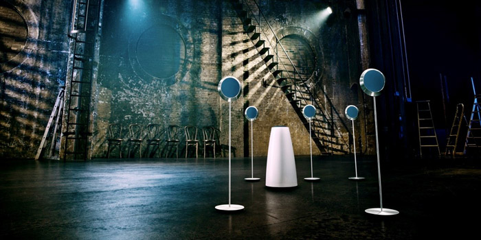 Beolab 14 surround loudspeaker set by Bang & Olufsen.