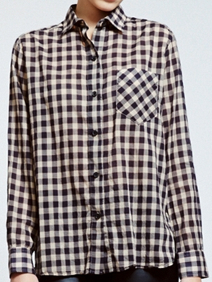 Billy Reid Williamsburg Black Camel women's shirt: US$225.