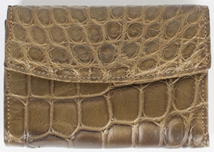 Billy Reid Alligator Olive French Purse: US$595.