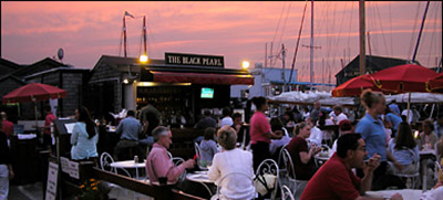 The Black Pearl Waterside Patio & Bar, 10 1/2 W Pelham St., Bannister's Wharf, Newport, RI 02840.
