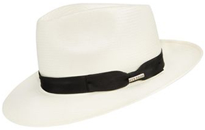 Harvie & Hudson Natural Panama Hat with Black Ribbon: £99.