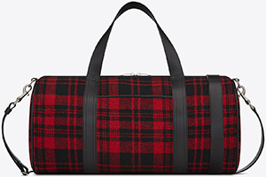 Yves Saint Laurent Sport Bag in Red and Black Tartan Wool and Black Leather: €850.