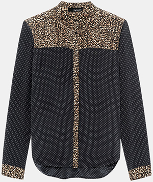 The Kooples Silk Blouse with a Blend of Dots Baby Leopard Prints: £185.