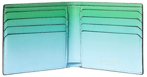 Richard James Blue and Green Men's Faze Wallet: £225.