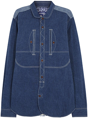 Harvey Nichols Karl Lagerfeld Ivy blue chambray women's shirt: £215.