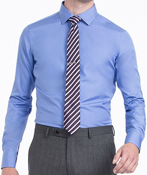 Indochino French Blue Wrinkle-Free Shirt: US$79.