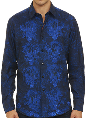 Robert Graham Limited Edition G Ron men's sport shirt: US$398.