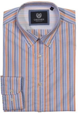 Gagliardi blue & orange weekend shirt: €79.