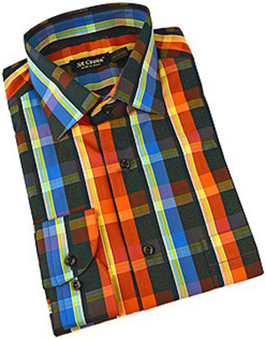 St. Croix Bold Plaid Long Sleeve Sport Shirt: US$198.