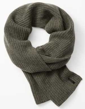 Rag & Bone Carson Men's Army Green Scarf: US$140.