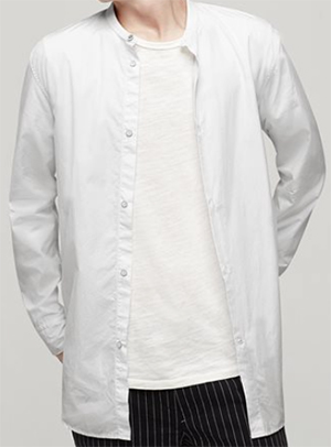 Rag & Bone Mulholland White men's shirt: US$295.
