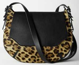 Rag & Bone Bradbury Small Flap Leopard Hobo: US$795.