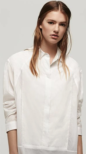Rag & Bone Axis Bright White women's shirt: US$395.