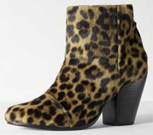 Rag & Bone Classic Newbury Leopard fur ankle boot women's boot: US$595.