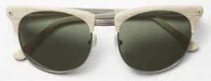 Rag & Bone Women's Monroe Bone Sunglasses: US$350.