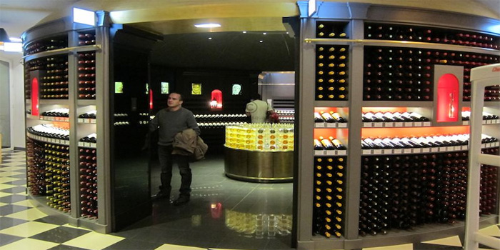La Bordeauthèque, Galeries Lafayette, 40 Boulevard Haussmann, 75009 Paris, France - world's largest Bordeaux wine store.