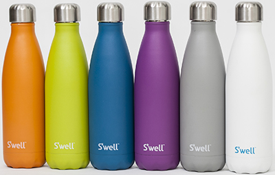 S'well bottles keep drinks cold for 24 hours and hot for 12.
