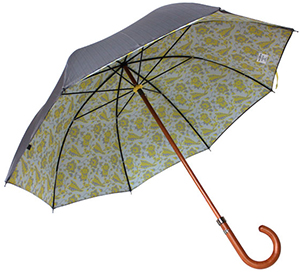 Timothy Everest Grey Herringbone and Yellow Floral Umbrella: £135.