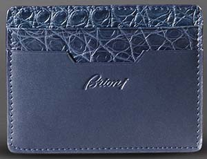 Brioni Men's Multi-Pocket Card Wallet: US$850.