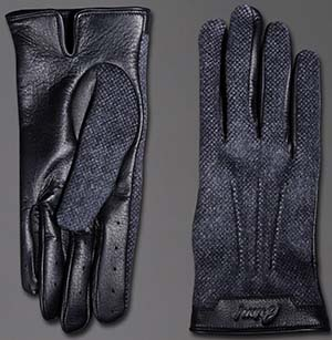 Brioni Men's Leather and Cashmere Gloves: US$1,000.