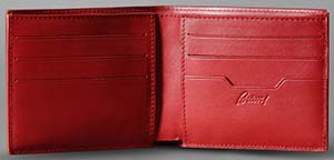Brioni Red Wallet: US$475.