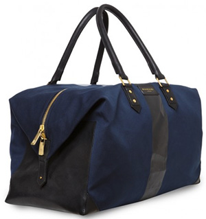 Richard James Navy Brook Weekend Bag: £695.