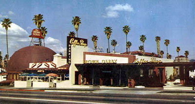 The Hollywood Brown Derby in 1952, 1628 North Vine Street (1929-1987).