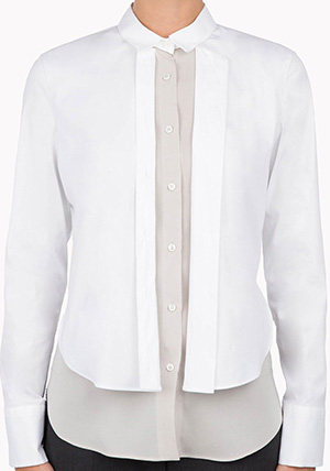Brunello Cucinelli Stretch poplin shirt with jewel detailing. Made In Italy.: US$1,380.