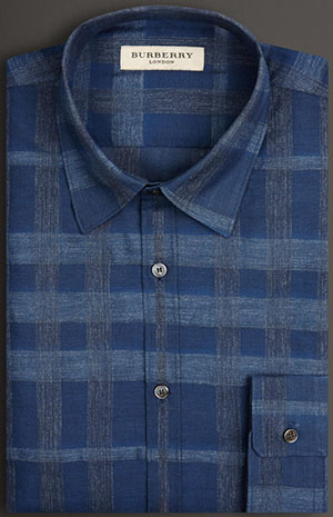Burberry Slim Fit Check Cotton Men's Shirt: US$325.