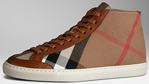 Burberry House Check High-Top Women's Trainer: US$350.