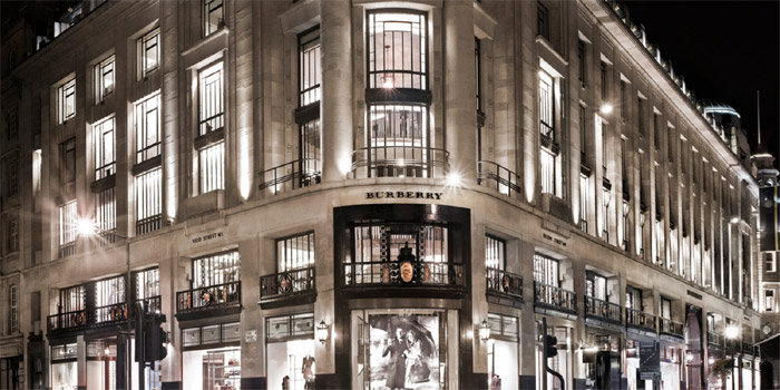 Burberry flagship store, 121 Regent Street, London W1, U.K.