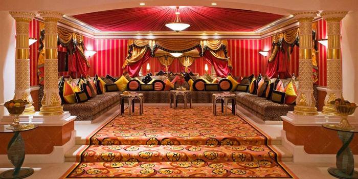 Royal Two-Bedroom Suite at Burj Al Arab, Jumeirah Beach Rd., Dubai, United Arab Emirates.