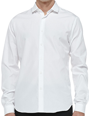 Valentino Stud-Collar Button-Down Shirt, White: US$420.