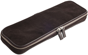 Frette zip up, classic Oliver tie case is in suede and stylish tumbled leather.