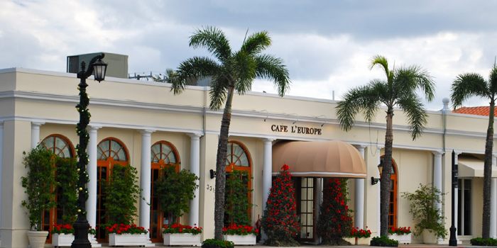 Café L'Europe, 331 South County Road, FL 33480.