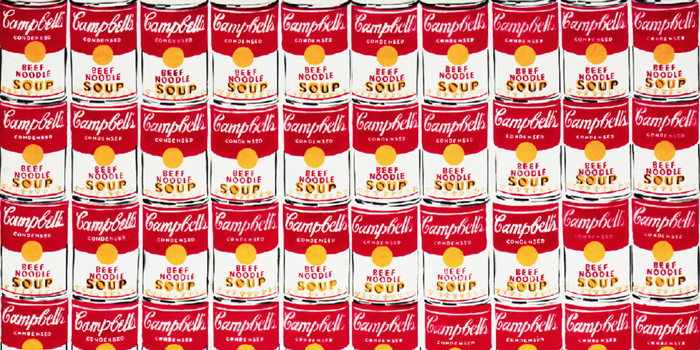 Campbell's Soup Cans, which is sometimes referred to as 32 Campbell's Soup Cans, is a work of art produced in 1962 by Andy Warhol (1928-1987).