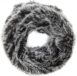 Vince Camuto Rabbit Fur Circle Scarf: US$275.