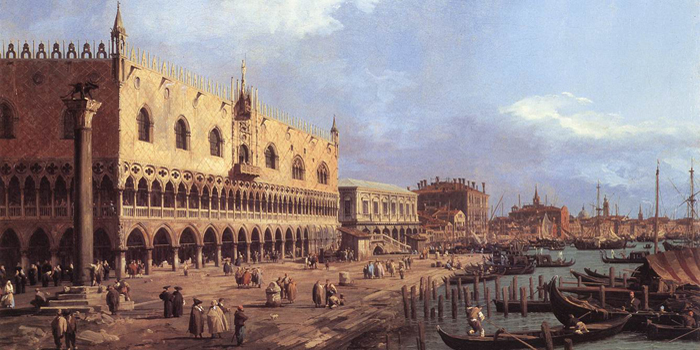 View of the Riva degli Schiavoni: Looking East (1736) by Canaletto (1697-1768).