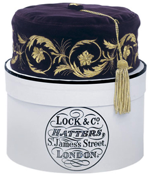 Lock & Co. Embroidered Smoking Cap: £260.