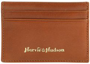 Harvie & Hudson Havanah Brown Leather Card Holder: £29.50.