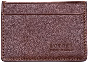 Lotuff Leather Card Credit Wallet: US$125.