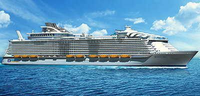Harmony of the Seas (2016). World's largest cruise ship. Royal Caribbean International cruise ships.